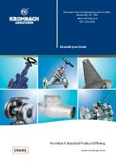 Krombach Industrial Valves Standard Product Overview