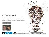 Knowledge Representation on the Web