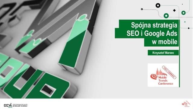 Spójna strategia SEO i Google Ads w mobile