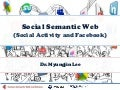 Social Semantic Web (Social Activity and Facebook)