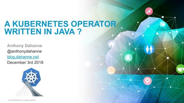 Kubernetes Java Operator
