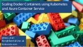 Scaling Docker Containers using Kubernetes and Azure Container Service