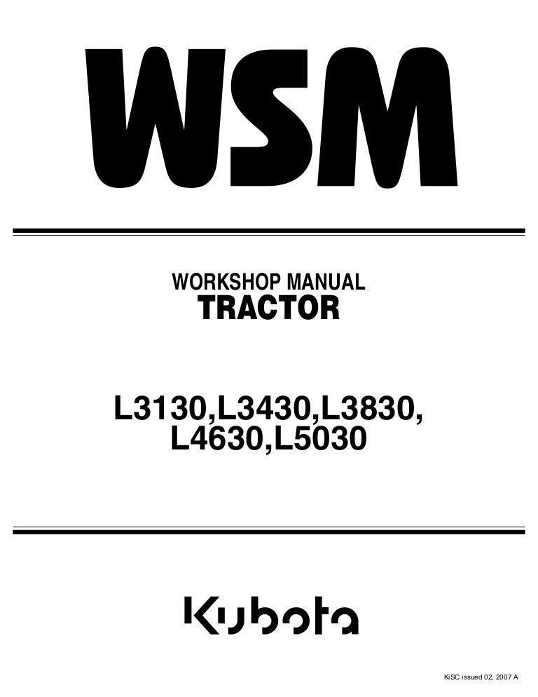 kubota l3830 tractor service repair manual rh slideshare net Kubota L3830 GST 4WD Kubota L3830 GST 4WD