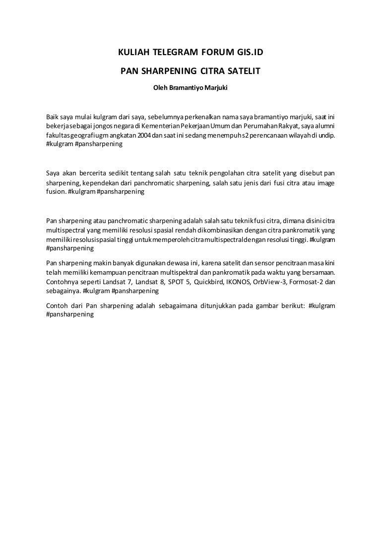 Pan Sharpening (Transkrip Kuliah Telegram) di Group Telegram GIS ID