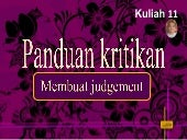 Kuliah 12 2016 membuat judgement seni visual (STPM)