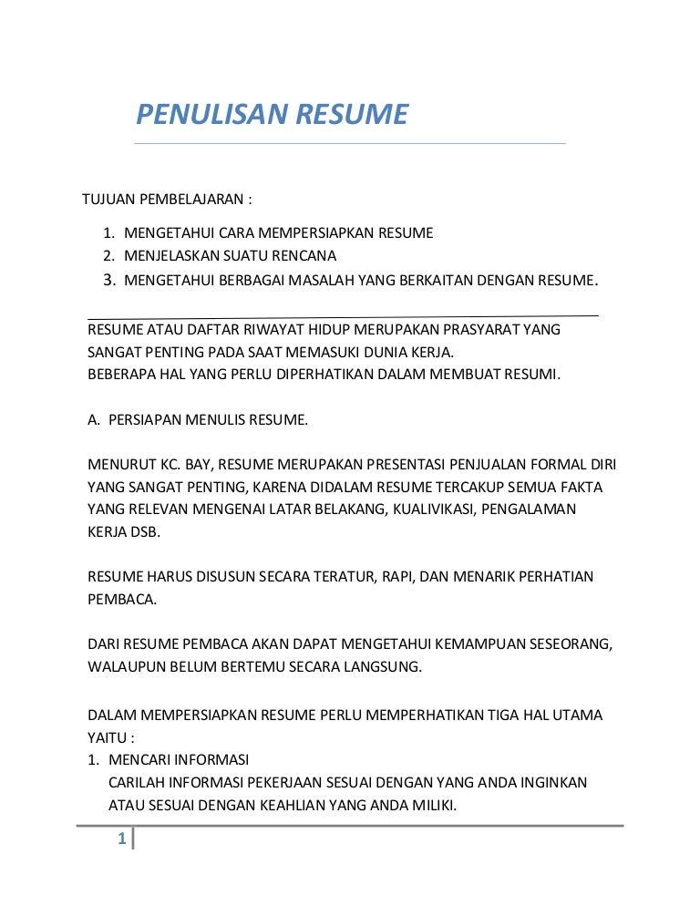 Kuliah Etikombis Pembuatan Resume