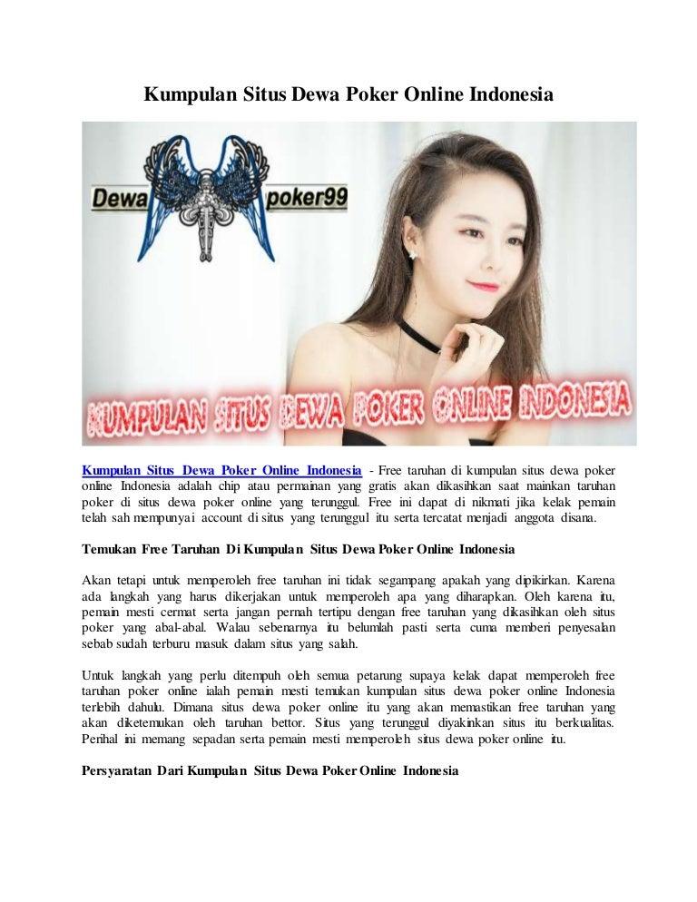 Kumpulan Situs Dewa Poker Online Indonesia Dewapoker99