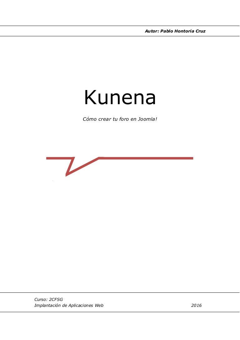 Manual Instalación Kunena
