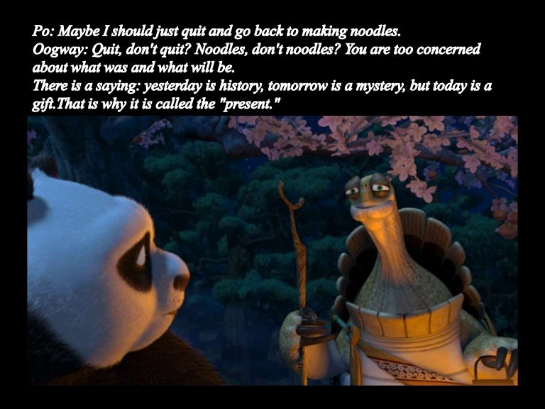 Kungfu Panda Philosophy