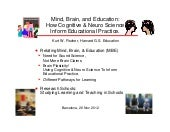 Mind, Brain, and Education: How Cognitive & Neuro Science Inform Educational Practice (By Kurt Fischer)