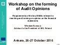 Wieslaw Kurzyca, Forming of audit opinions, SIGMA, Ankara 26 October 2016