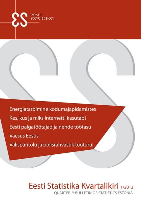 Eesti Statistika Kvartalikiri 1/2013