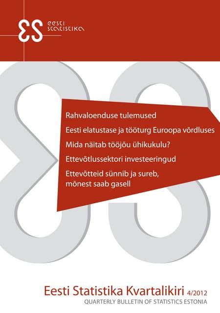 Eesti Statistika Kvartalikiri 4/2012