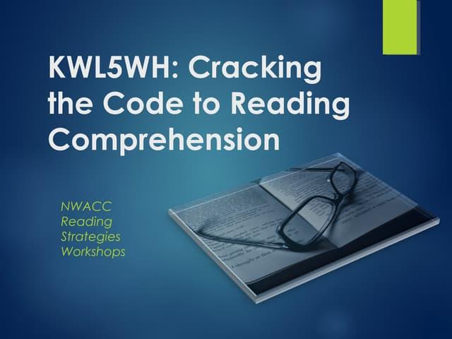 Kwl5 wh reading comprehension