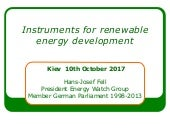 Instruments for renewable energy development