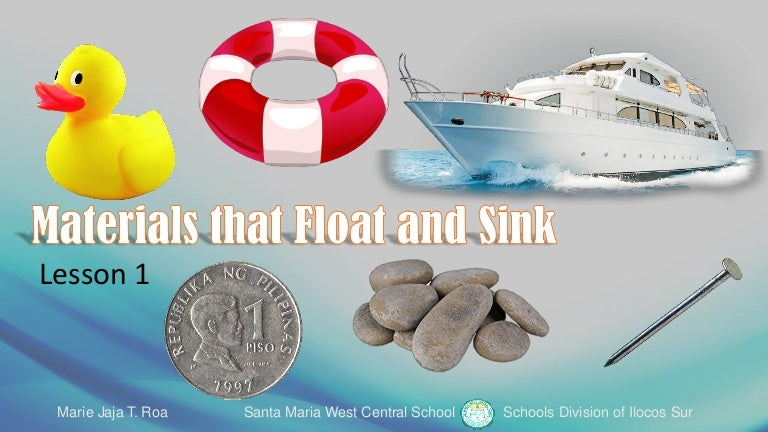 Materials That Float And Sink