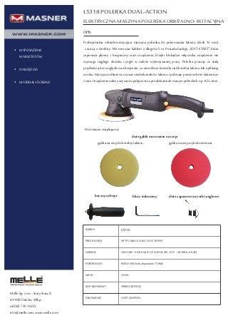 L5318 Elektryczna polerka maszynowa orbitalno-rotajcyna
