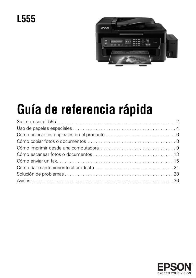 L555 guía de referencia rápida español