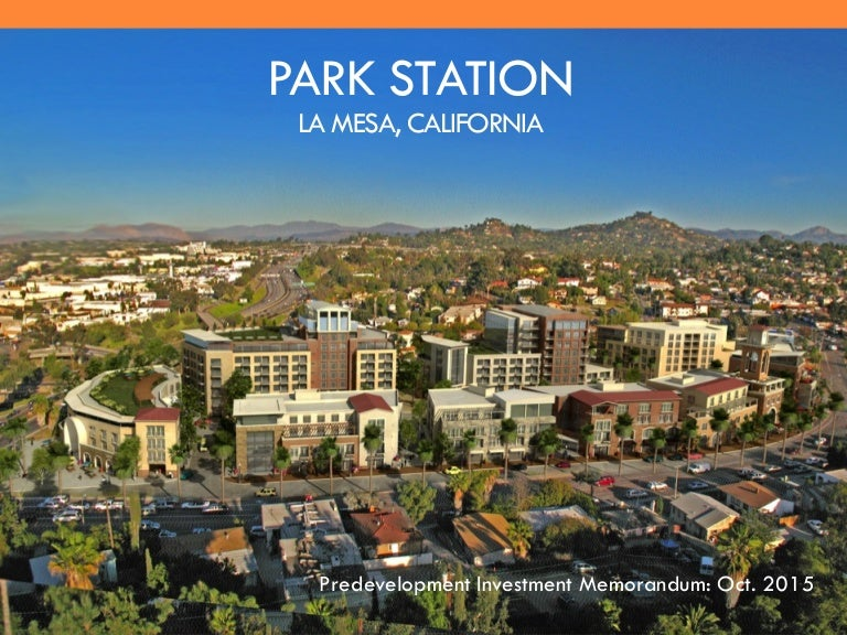 Park Station, La Mesa Hotel, Senior Living and Residential/Retail