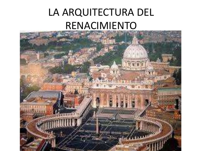 la arquitectura del renacimiento