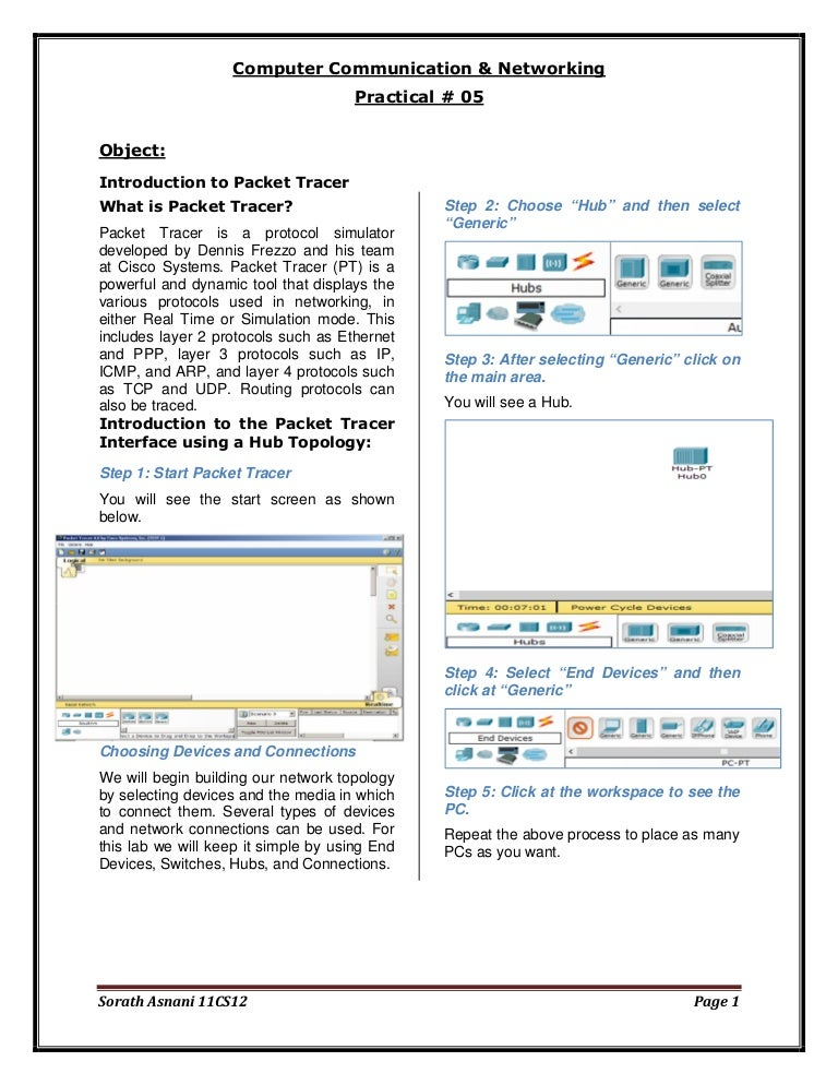 Step by Step guide to set up a simple network in Packet Tracer