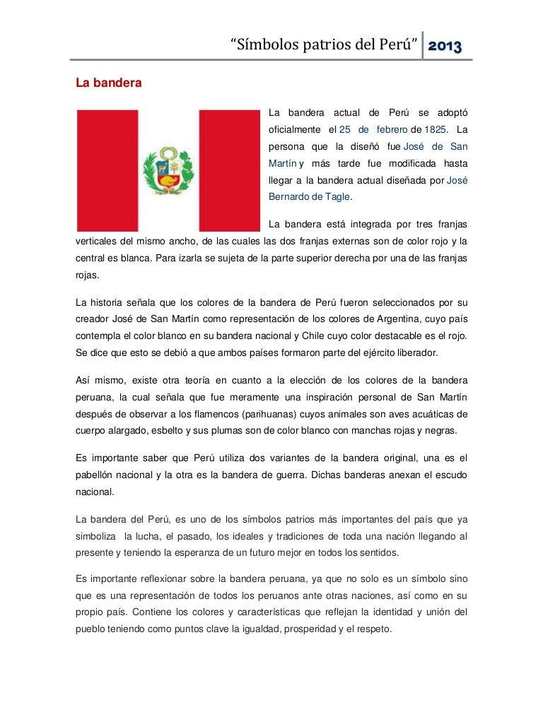 Peru bandera de los significado de colores