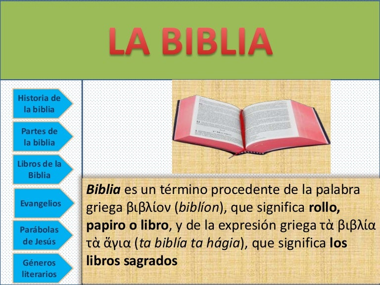la biblia power point
