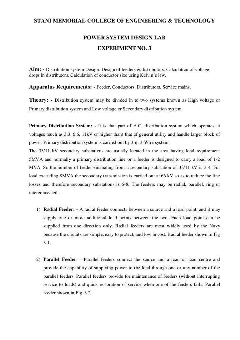 Lab Manual Psd V Sem Experiment No 3 Parallel Circuit Voltage Drop Calculator