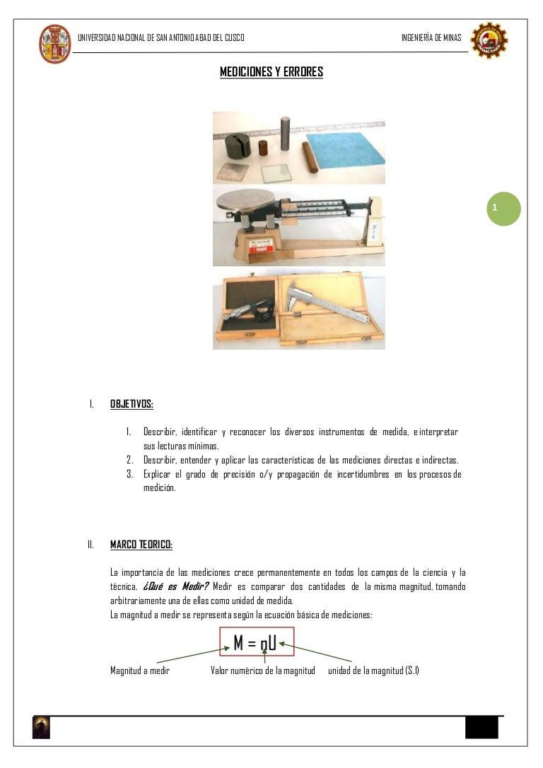Laboratorio de física i mediciones y errores