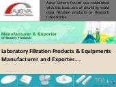 Axiva – Laboratory Filtration Product Manufacturer and Exporter!