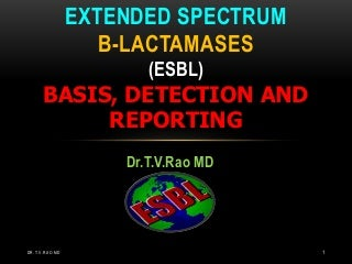 Laboratory detection of ESBL