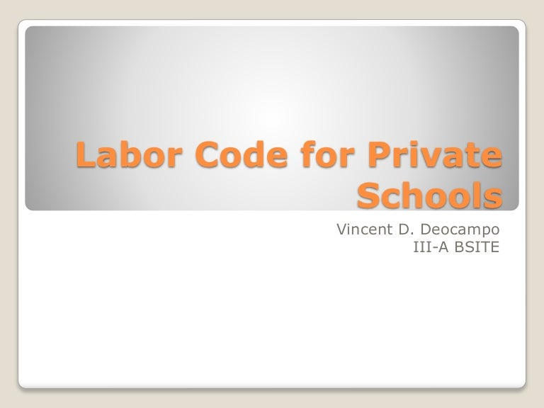 Labor code for private schools philippines fandeluxe Image collections