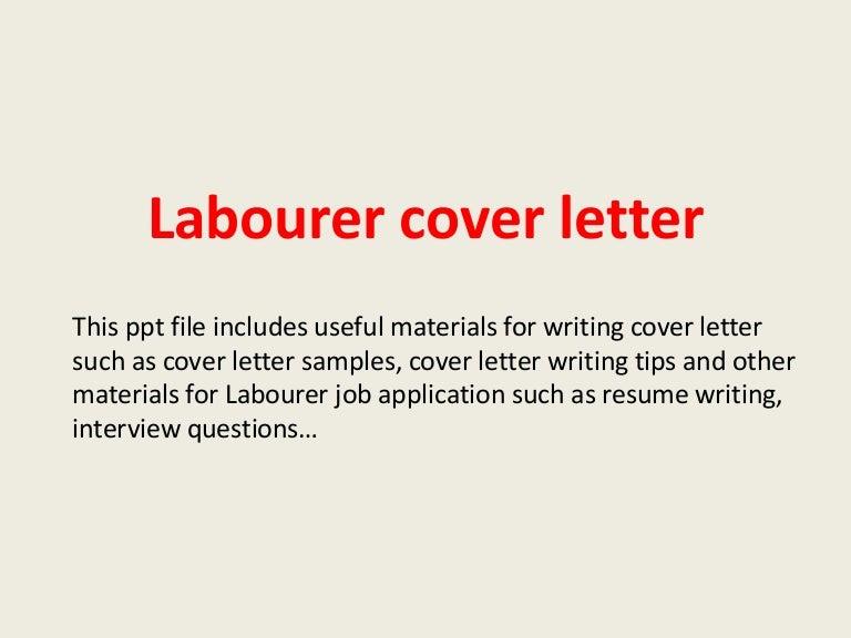 general labor cover letter sample - Akba.greenw.co