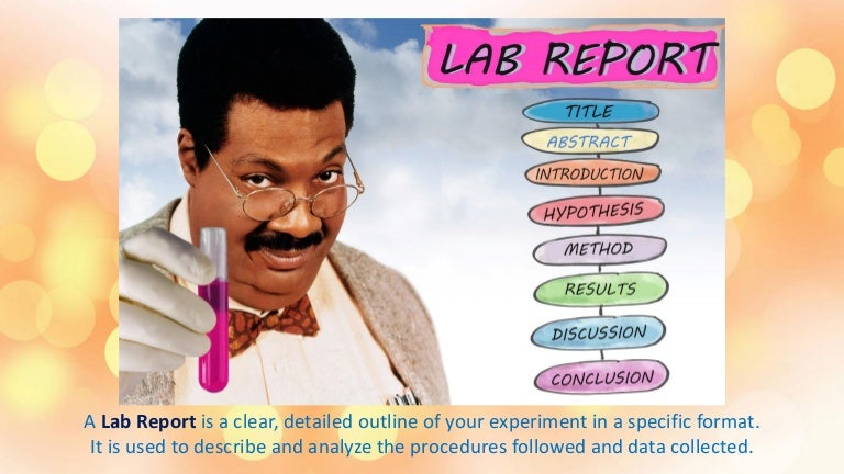 Lab Format Template  how to write an appeal letter for college     JFC CZ as Lab report steps
