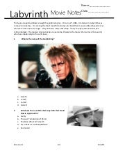 Labyrinth movie notes handout