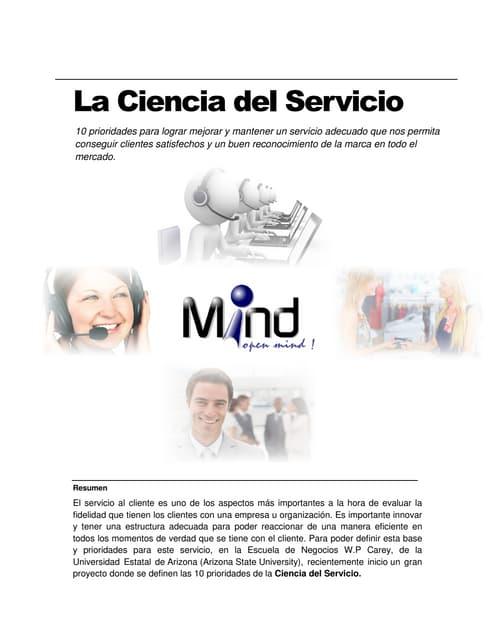 La ciencia del servicio. Prioridades del Servicio al Cliente
