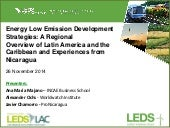 Energy Low Emission Development Strategies: A Regional Overview of Latin America and the Caribbean and Experiences from Nicaragua