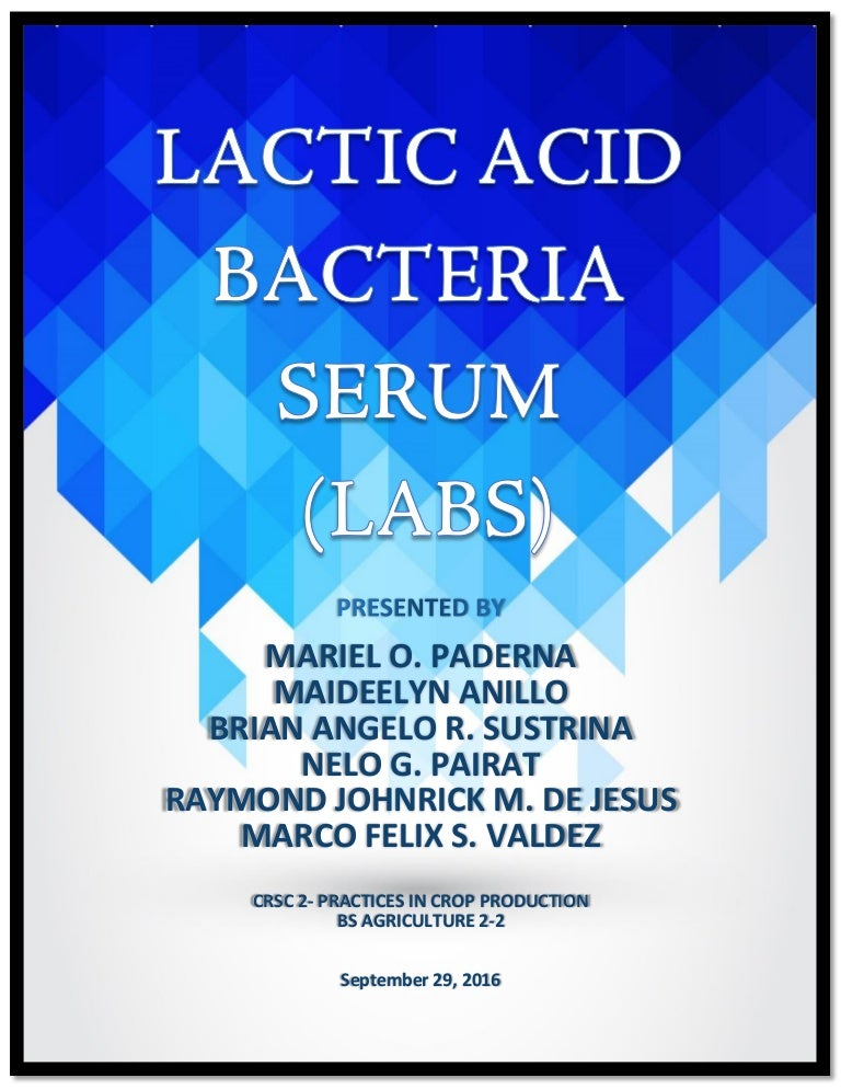how to make lactic acid serum