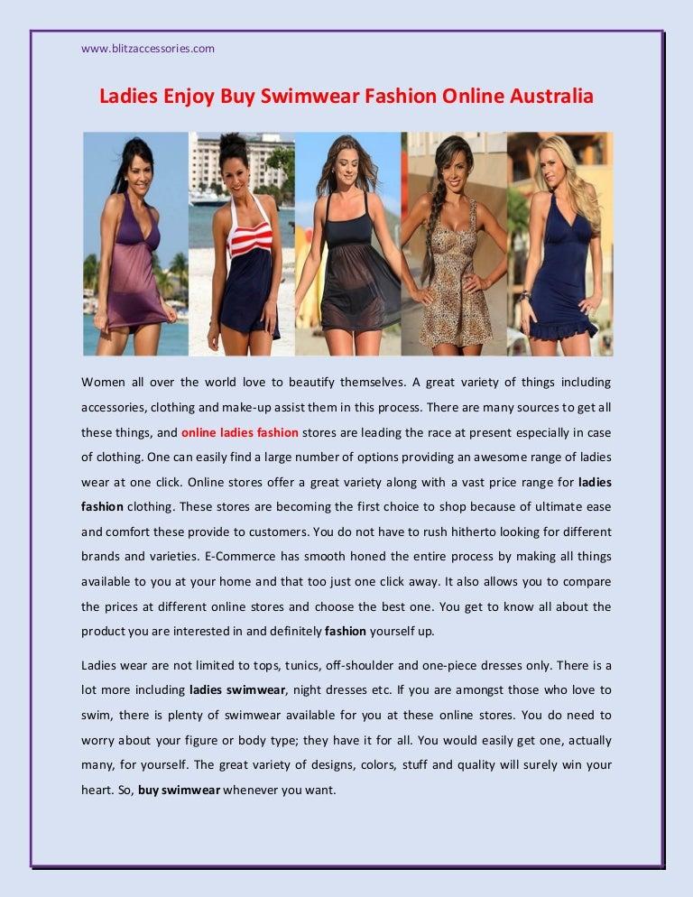 Ladies Enjoy Buy Swimwear Fashion Online Australia