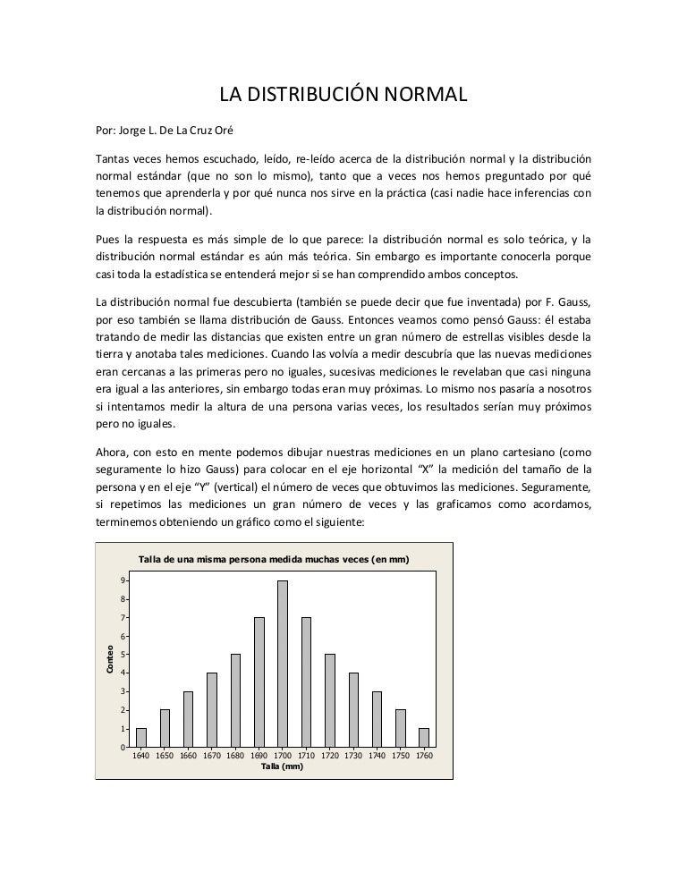5265cae76f217 La distribución normal explicada.