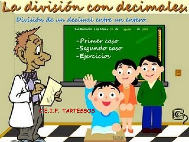 La división decimales