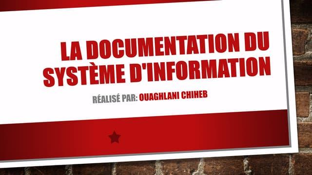 La documentation du système d'information