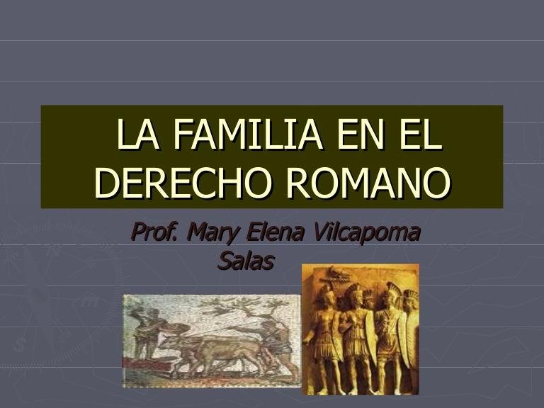 Matrimonio Romano Trabajo Monografico : La familia en el derecho romano