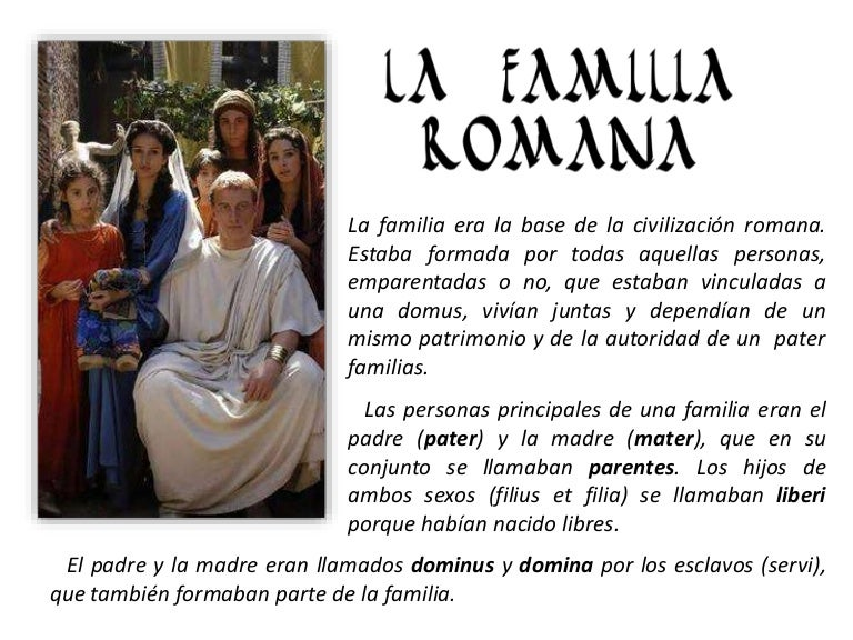 Matrimonio Romano Antiguo : La familia romana