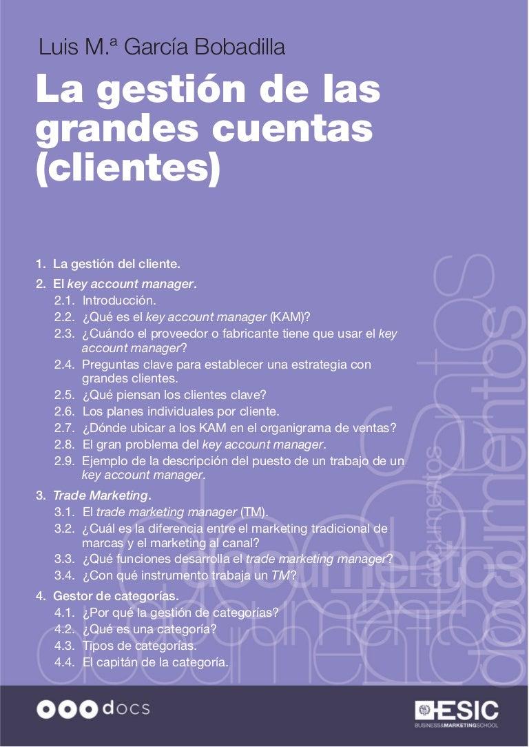 La gestión de las grandes cuentas (clientes)