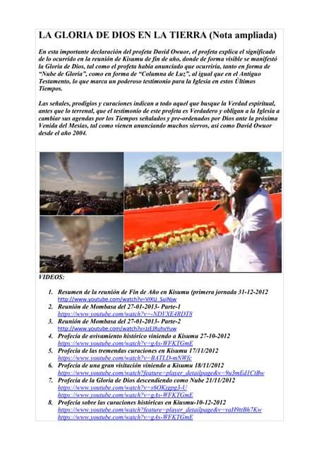 La gloria de dios en la tierra  discurso de david owuor en mombasa