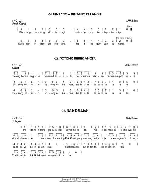 Buku Kumpulan Lirik Lagu Indonesia Kunci Gitar