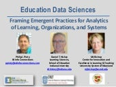 Learning Analytics and Knowledge (LAK) 14 Education Data Sciences