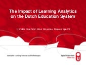 The Impact of Learning Analytics on the Dutch Education System