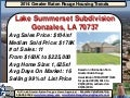 Lake Summerset Subdivision Gonzales Louisiana Home Prices Ascension Parish